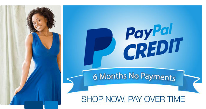 Choose Paypal Credit with 6 months interest free