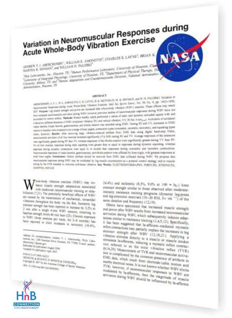 NASA case study vibra therapy by HnB Connection